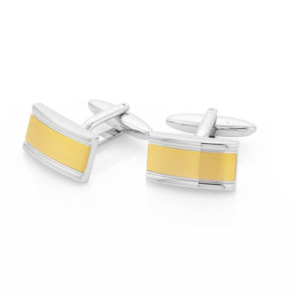 Two Tone Brushed Cufflinks