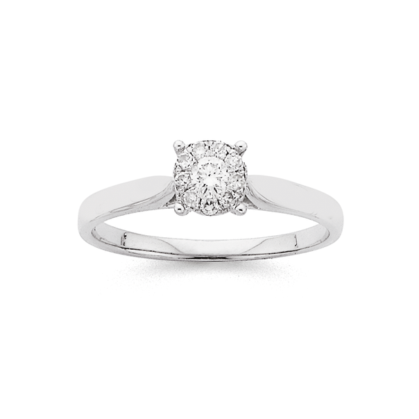 White Gold Diamond 1/2ct LOOK Ring